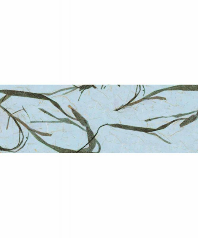 Bambuspapier Naturpapier mit Bambusfasern, 35 g/m² 23 x 33 cm, 5 Blatt, mit Banderole hellblau Art.-Nr.: 60560031