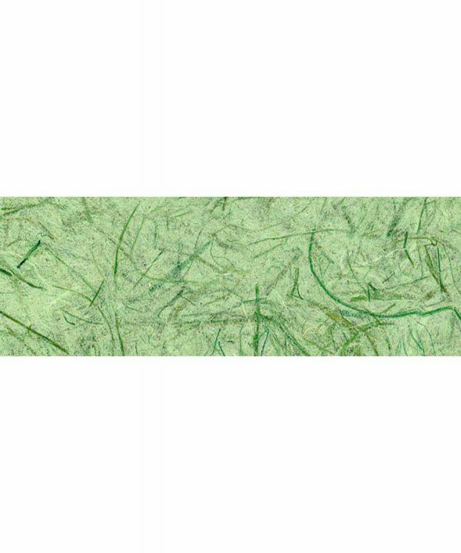 Graspapier Handgeschöpftes Naturpapier, mit Fasern vom Maulbeerbaum, 80 g/m² 23 x 33 cm, 5 Blatt, mit Banderole Art.-Nr.: 60720052 grün