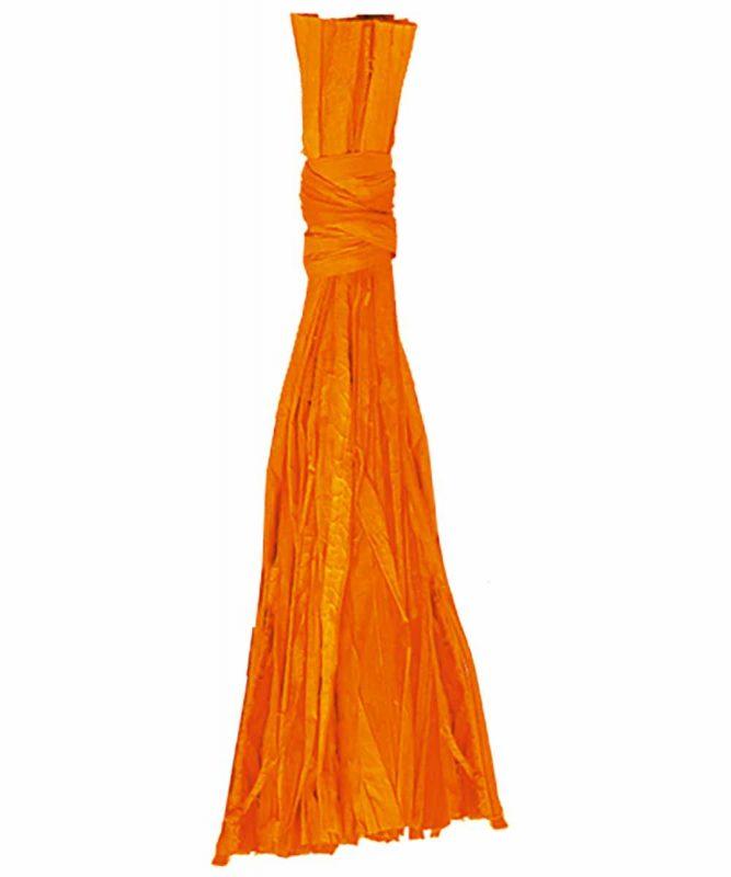 Naturbast von der Raffiapalme auf Madagaskar, gleichmäßig gefärbt, vielseitig verwendbar 50g Art.-Nr.: 6400041 orange