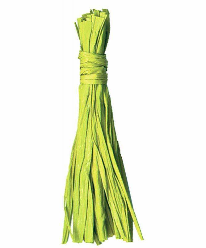 Naturbast von der Raffiapalme auf Madagaskar, gleichmäßig gefärbt, vielseitig verwendbar 50g Art.-Nr.: 6400051 hellgrün