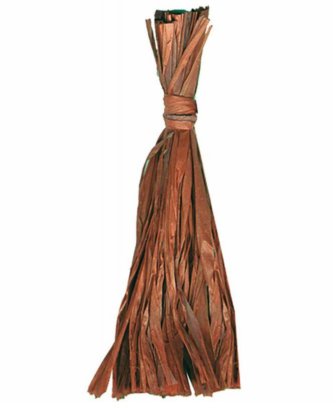 Naturbast von der Raffiapalme auf Madagaskar, gleichmäßig gefärbt, vielseitig verwendbar 50g Art.-Nr.: 6400072 mittelbraun