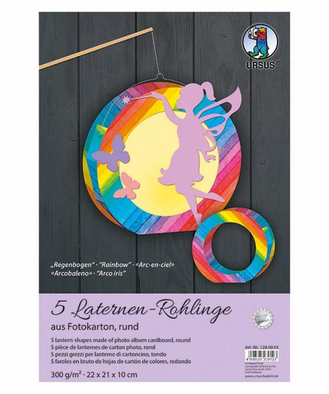 Laternen-Rohlinge rund Regenbogen Streifen Art.-Nr.: 1280001