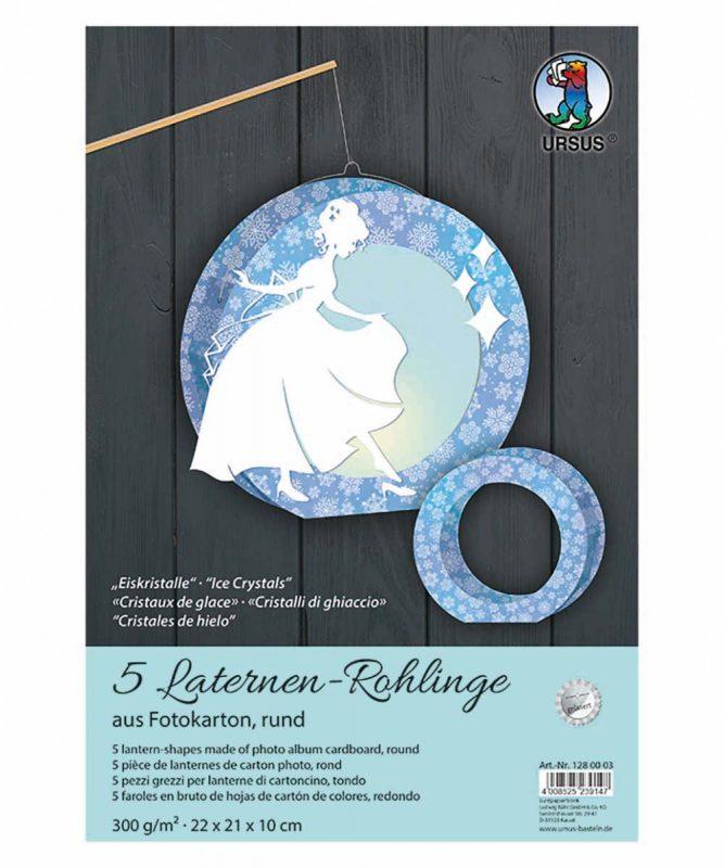 Laternen-Rohlinge rund Eiskristalle Art.-Nr.: 1280003