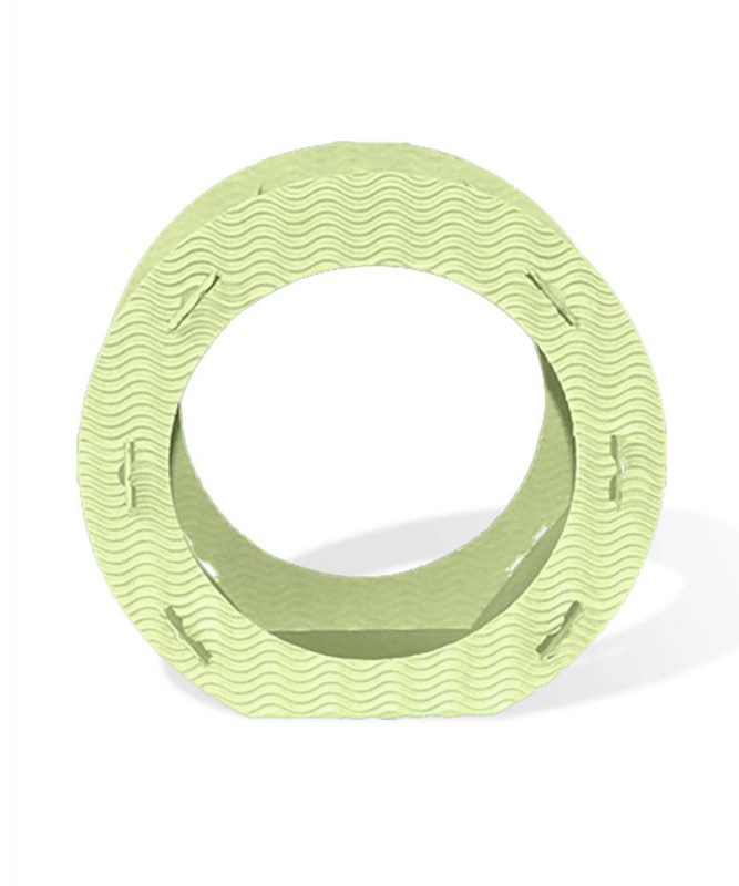 Runde Laternen aus 3D-Colorwellpappe apfelgrün Art.-Nr.: 1350050