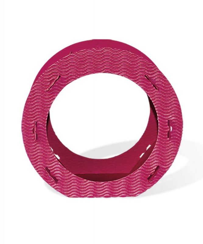 Runde Laternen aus 3D-Colorwellpappe pink Art.-Nr.: 1350062