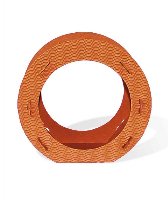 Runde Laternen aus 3D-Colorwellpappe orange Art.-Nr.: 1350041