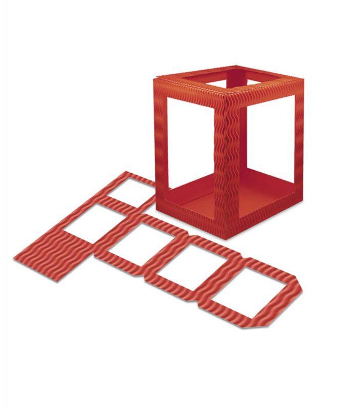 Laternenpackung Form 1 rubinrot Art.-Nr.: 1410022 Art.-Nr.: 1400022
