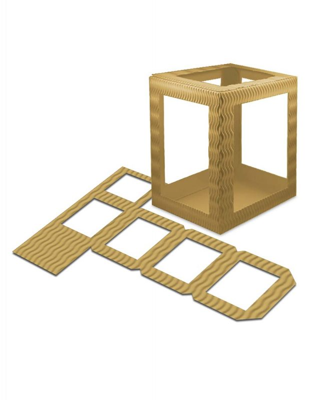 Laternenpackung Form 1 gold Art.-Nr.: 1410079 Art.-Nr.: 1400079