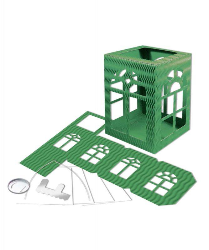"Laternenpackung Form 2 ""Fenster"" dunkelgrün Art.-Nr.: 1470055"