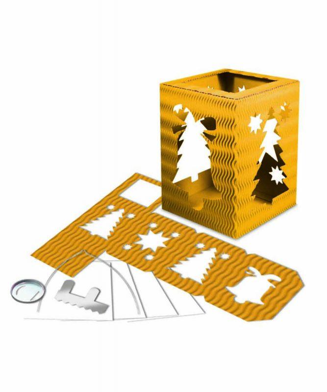 """Laternenpackung Form 5 """"Weihnachten"""" sonnengelb Art.-Nr.: 1500015"""