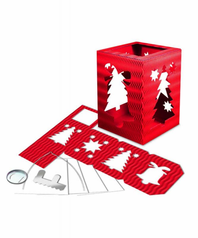 """Laternenpackung Form 5 """"Weihnachten"""" rubinrot Art.-Nr.: 1500022"""