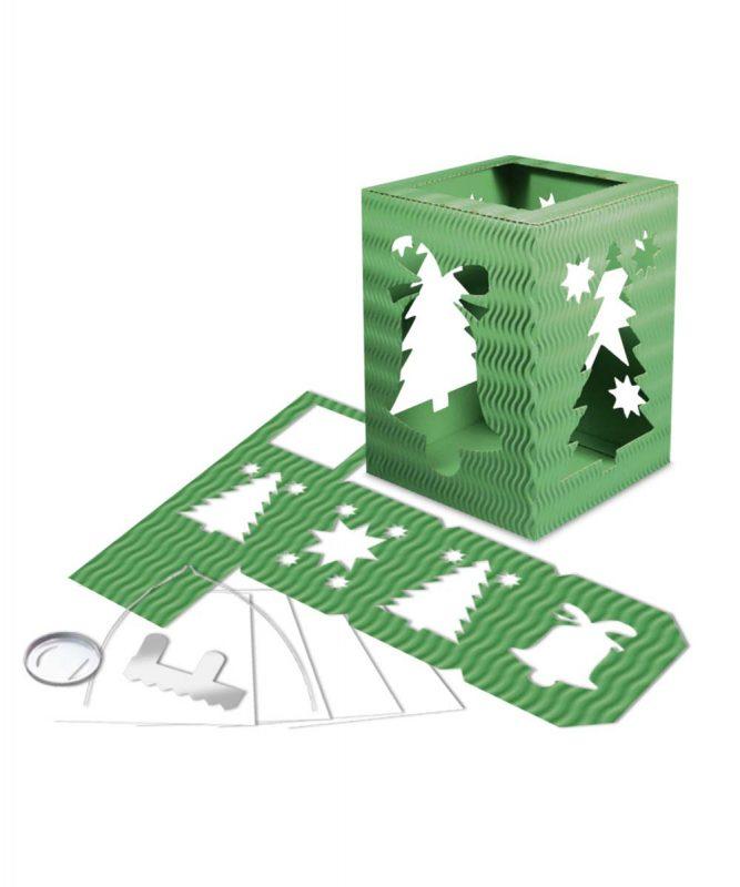 "Laternenpackung Form 5 ""Weihnachten"" dunkelgrün Art.-Nr.: 1500055"