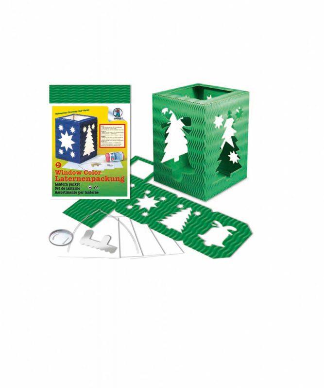 "Laternenpackung Form 5 ""Weihnachten"", dunkelgrün Art.-Nr.: 1500055"