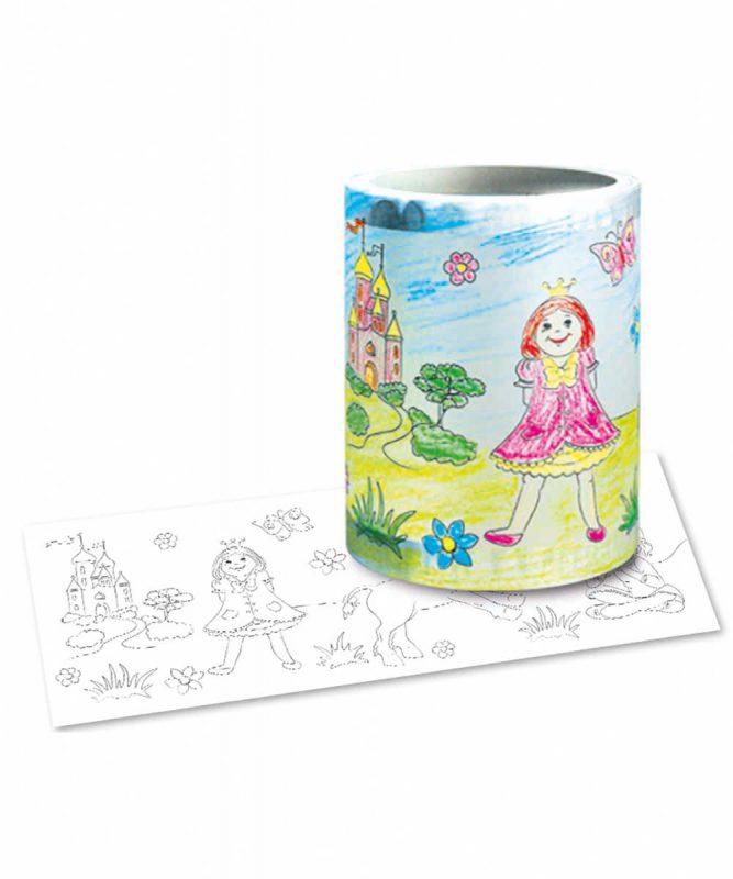 """Laternenzuschnitte Ausmal-Laternenzuschnitte """"Prinzessin"""" Art.-Nr.: 18090000"""