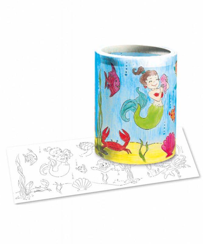 """Laternenzuschnitte Ausmal-Laternenzuschnitte """"Meerjungfrau"""" Art.-Nr.: 18110000"""