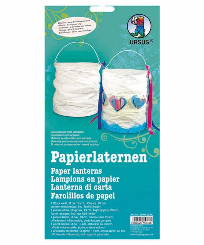 Papierlaternen 4 Stück weiß, Ø ca. 13 cm, Höhe ca. 17-19 cm Art.-Nr.: 18460000