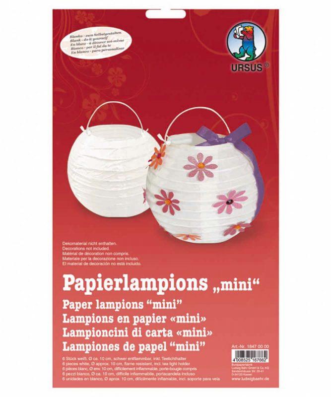 Papierlampions 6 Stück weiß, Ø ca. 10 cm Art.-Nr.: 18470000