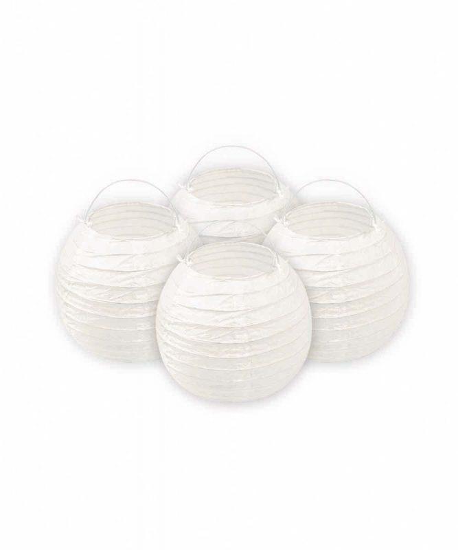 Papierlampions 4 Stück weiß, Ø ca. 15 cm Art.-Nr.: 18480000