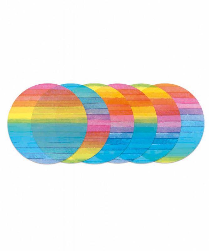 Laternenzuschnitte rund 115 g/m² Regenbogen Streifen Art.-Nr.: 2270002