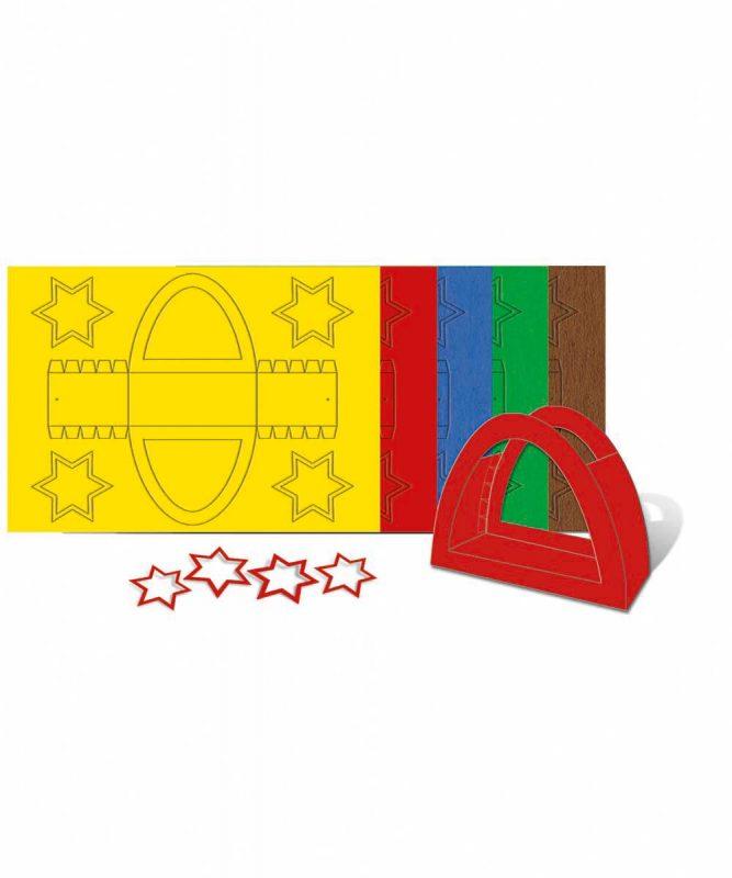 """Laternenpackung """"Rundbogen"""" 300 g/m² 25 Stück sortiert in 5 Farben Art.-Nr.: 2350099"""