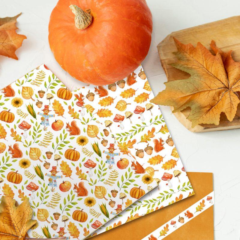 Fotokarton Herbst sortiert in 3 Motiven handgemalt Art.-Nr.: 11592299 Masking Tape Herbst 2er Set handgemalt Art.-Nr.: 58690099