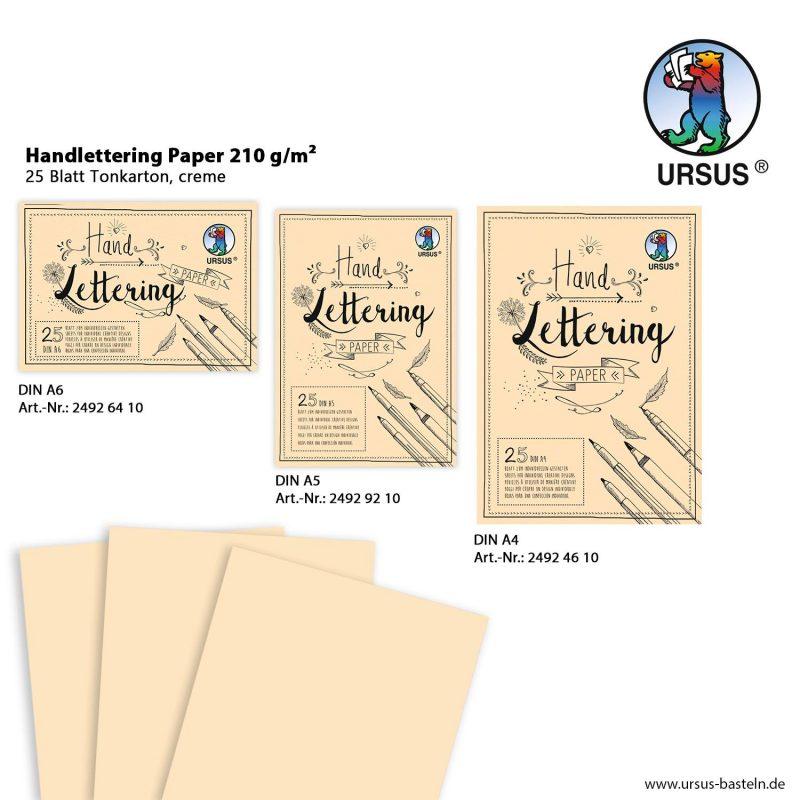 Handlettering Paper 210 g/m² 25 Blatt Tonkarton, creme DIN A6 Art.-Nr.: 24926410 DIN A5 Art.-Nr.: 24929210 DIN A4 Art.-Nr.: 24924610