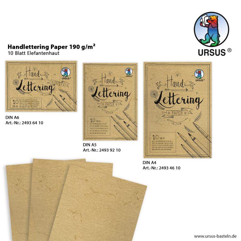 Handlettering Paper 190 g/m² 10 Blatt Elefantenhaut DIN A6 Art.-Nr.: 24936410 DIN A5 Art.-Nr.: 24939210 DIN A4 Art.-Nr.: 24934610
