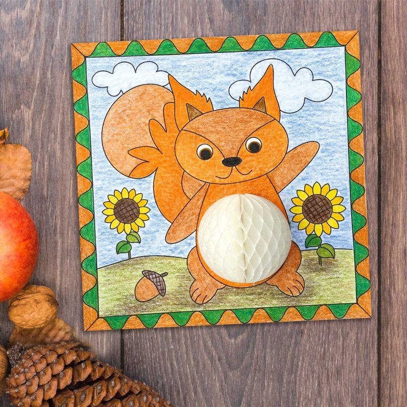 "Honeycomb ball pictures ""Autumn"" 6 motifs, including honeycomb balls Item no.: 21300003"