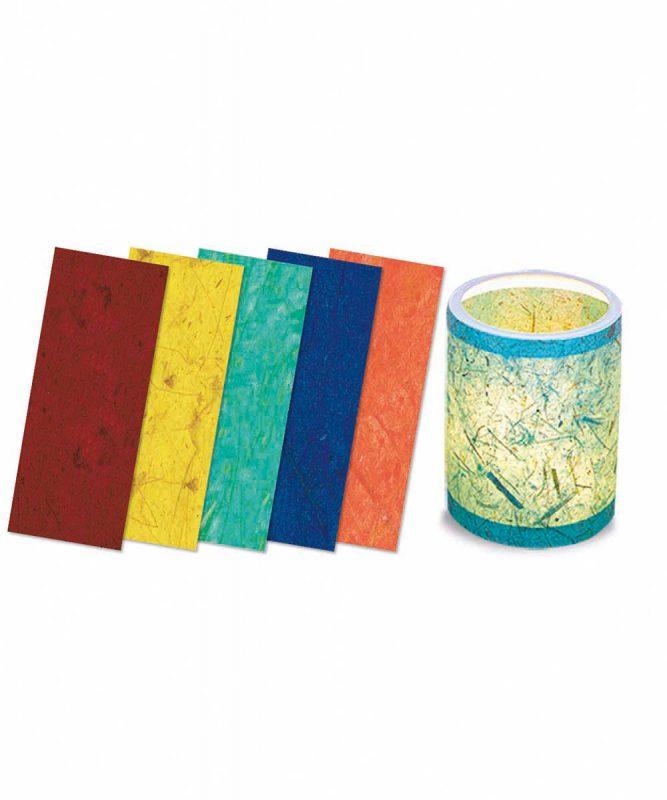 "Laternenzuschnitte ""Bananenpapier"", sortiert in 5 Farben Art.-Nr.: 2670099"