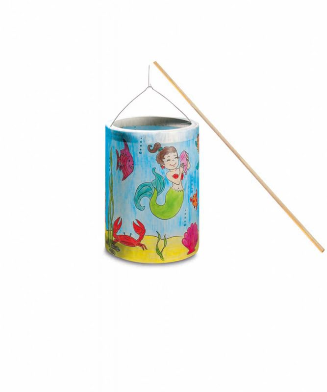 """Laternen Bastelkomplettsets Laternen-Bastelset 15, mit Transparentpapier zum Ausmalen """"Meerjungfrau"""" Art.-Nr.: 6840000"""