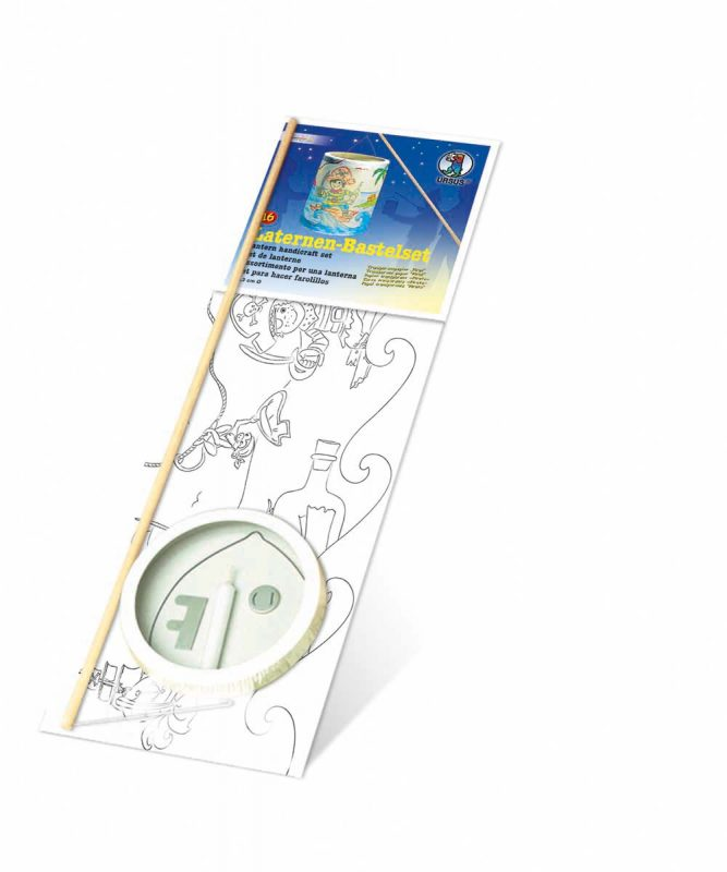 """Laternen Bastelkomplettsets Laternen-Bastelset 16, mit Transparentpapier zum Ausmalen """"Piraten"""" Art.-Nr.: 6850000"""