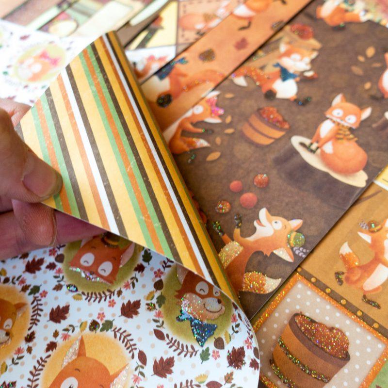 Glitter design paper Autumn Item no.: 71890099