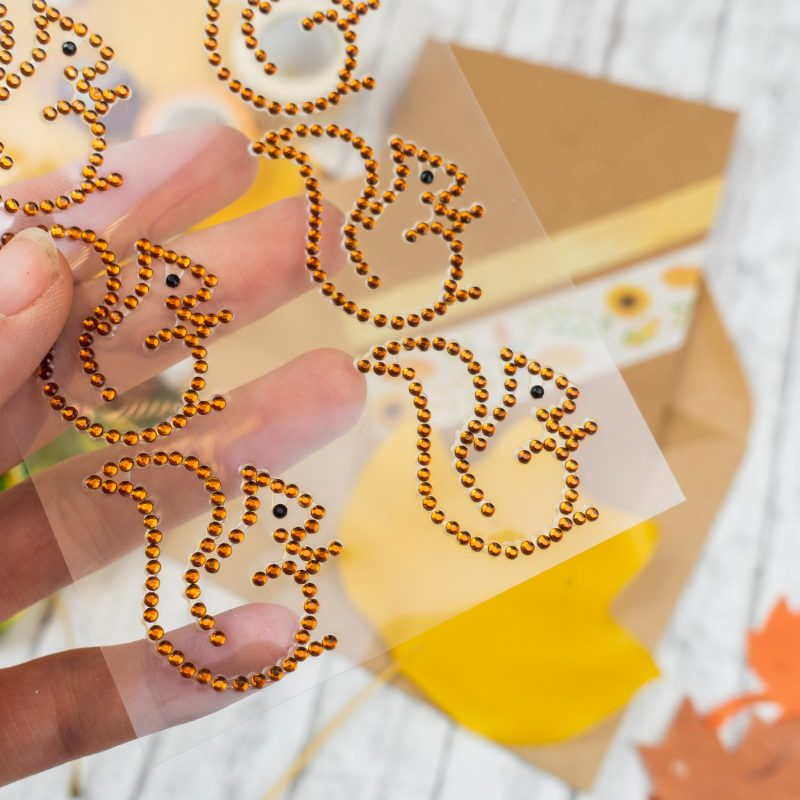 Greeting cards with envelopes 6 pieces each, Kraft art. no.: 90700000, Design stickers 8 pieces, item no.: 75070039, Masking Tape aqua-yellow item no.: 5905 00201, Masking Tape autumn set of 2 art. no.: 58690099